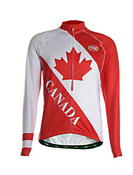 TVSSS Camisa para Ciclismo Homens Manga Longa Moto Camisa/Roupas Para Esporte Blusas Térmico/Quente Zíper Frontal Respirável Tecido Ultra