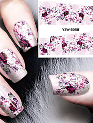 cheap -diy decals nails art water transfer printing stickers accessories for manicure salon yzw 8058