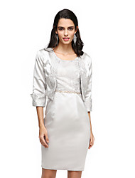 cheap -Lace Satin Wedding Party Evening Women's Wrap With Lace Shrugs