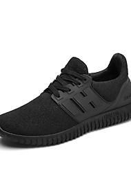 economico -Da uomo-Sneakers-Casual Sportivo-Decolleté con cinturino-Piatto-Tulle PU (Poliuretano)-Nero Rosso