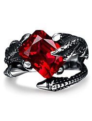 cheap -Men's AAA Cubic Zirconia Band Ring - Stainless Steel, Zircon, Cubic Zirconia Skull Personalized, Punk, Hip-Hop 8 / 9 / 10 Black For Wedding / Party / Halloween