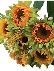 1 bouquet/Set 5 Ramo Seta / Plastica Girasoli Fiori da tavolo Fiori Artificiali 3.3 inch X 10 inch