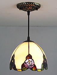 Недорогие -25W Подвесные лампы ,  Традиционный/классический / Тиффани Живопись Особенность for Мини Металл Спальня / Прихожая