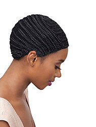 Comfortable High-grade Black Wig Cap Best Cornrows Wig Cap For Making Wigs Easier Sew Ins Cheap Adjustable Wig Cap Less Stress On Your Natural Hair1pc