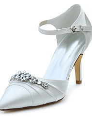 cheap -Women's Heels Spring / Fall  Stretch Satin Wedding / Party & Evening / Dress Stiletto Heel Crystal Ivory