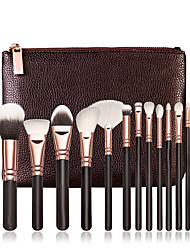 cheap -15 Contour Brush Foundation Brush Powder Brush Fan Brush Concealer Brush Brow Brush Lip Brush Eyeshadow Brush Blush Brush Makeup Brush Set