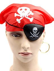 Недорогие -1шт Халоуин декора новизны подарка Террористические украшения косплей маска глаза шарф серьги