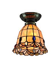 cheap -18cm Retro Tiffany Ceiling Lamp Glass Shade Flush Mount Living Room Bedroom Dining Room Kids Room light Fixture