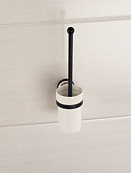 cheap -Mirror Polished Finishing Bathroom Accessories Solid Brass Material Toilet Brush Holder