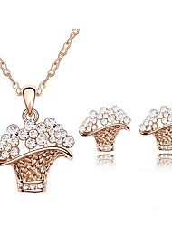 Women's Jewelry Set Crystal Fashion Daily Earrings Necklaces