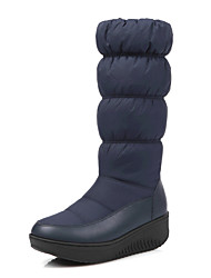 cheap -Women's Boots Fall Winter Crib Shoes Fleece Leatherette Outdoor Casual Party & Evening Platform Creepers Others Black Blue White Other