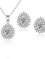 baratos -Mulheres Zircônia cúbica Conjunto de jóias - Incluir Sets nupcial Jóias Prata / Vermelho / Verde Para Casamento / Festa / Diário / Casual