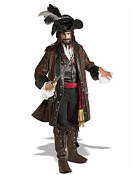 Cosplay Costumes Party Costume Masquerade Pirate Movie Cosplay Brown Coat Shirt Pants Belt Hat Halloween Christmas Carnival New Year Male
