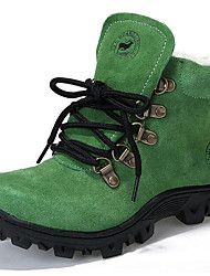 cheap -Unisex Shoes Suede Winter Boots Walking Shoes Lace-up for Green / Blue