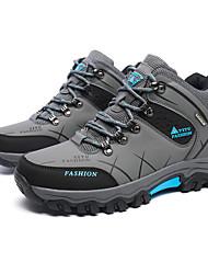 preiswerte -Herrn Schuhe PU Frühling Herbst Komfort Sneakers Wandern Schnürsenkel für Normal Grau Grün Khaki