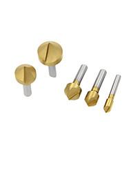 vijf sets van titanium afkanten apparaat (noot 5-delige metrisch)