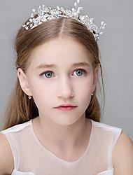 Femme Perle Strass Cristal Tulle Inox Imitation de perle Titane Agate Organza Résine Casque-Mariage Occasion spéciale Décontracté Bureau