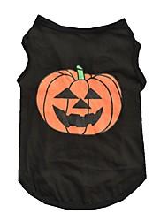 preiswerte -Katze Hund T-shirt Hundekleidung Niedlich Halloween Kürbis Schwarz Kostüm Für Haustiere