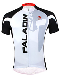 ILPALADINO Cycling Jersey Men's Short Sleeves Bike Jersey Top Quick Dry Ultraviolet Resistant Front Zipper Breathable Back Pocket