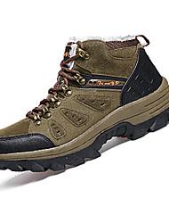abordables -Homme Chaussures Polyuréthane Printemps Automne Confort Chaussures d'Athlétisme Randonnée Lacet pour De plein air Gris Kaki Vert foncé