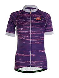 TVSSS Camisa para Ciclismo Mulheres Manga Curta Moto Camisa/Roupas Para Esporte Blusas Secagem Rápida Zíper Frontal Respirável Bolso