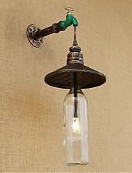 AC 220V-240V 3W e27 bgb009 edison retro decorativo tubulação de água parede da garrafa de vinho luz de parede lâmpada