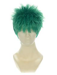 economico -Donna Parrucche sintetiche Senza tappo Lisci Verde Parrucca Cosplay Parrucca di Halloween Parrucca di carnevale costumi parrucche