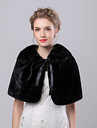 Women's Wrap Capelets Faux Fur / Imitation Cashmere Wedding / Party/Evening Bow