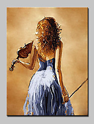 cheap -Hand Painted Girl Figure Oil Painting On Canvas Modern Abstract Wall Art Picture For Living Room Home Decoration
