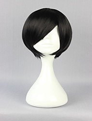 cheap -Special Style Black 30cm Short Straight Man High Quality Synthetic Wigs