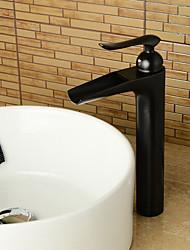 economico -Lavandino rubinetto del bagno - Saliscendi / Separato / Ruotabile Rame anticato Installazione centrale Una manopola Due fori