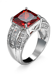 cheap -Women's AAA Cubic Zirconia Zircon / Cubic Zirconia Ring - Purple / Red Ring For Wedding / Party / Engagement