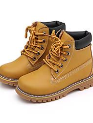 Girl's Boots Fall Winter Comfort Snow Boots PU Dress Casual Flat Heel  Yellow