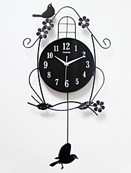 cheap -Modern/Contemporary Acrylic Wood Metal Others Indoor,AA Wall Clock