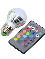 cheap -E14 E26/E27 LED Globe Bulbs G45 1 High Power LED 250lm RGB RGB K Dimmable Remote-Controlled Decorative