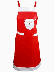 cheap -Santa Claus Apron Dinner Kitchen Table Decoration Home Party Decor Xmas Pinafore Party Apron