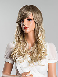 cheap -Attractive Long Body Wave Capless  Human Hair  Ombre Wigs
