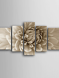 cheap -Stretched Canvas Print Botanical Five Panels Vertical Print Wall Decor Home Decoration