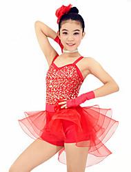 cheap -MiDee Dresses Performance Spandex / Organza /  Paillettes / Flower(s) / Ruffles / Sequins 6 Pieces Ballet Sleeveless Natural