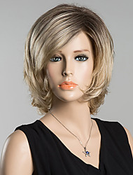 abordables -Bang lado corto refrescante peluca del pelo humano para las mujeres