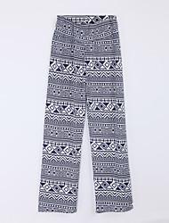 preiswerte -Damen Street Schick Mittlere Hüfthöhe Mikro-elastisch Lose Jeans Hose, Acryl Elasthan Herbst Gestreift