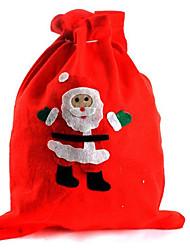 2PCS Christmas Gift Bag Santa Claus Bag Christmas Eve Gift Bag(Style random)