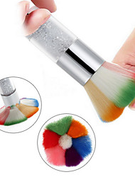 cheap -Colorful Long Handle With Diamond Nail Dust Cleaning Brush Beauty Blush