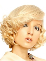 Marilyn Monroe Fashion Curly Wig Cosplay Hair Full Wig Short Blond Holloween Party Hairstyle Natural Wig Heat Resistant