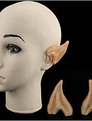 Halloween Dress Up Cos Elf Ears Ears Plastic Model Simulation Toy Ball Party Props 6.5*5Cm