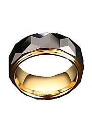 Ringe Ikke-sten Mode Daglig Afslappet Julegaver Smykker Wolfram stål Herre Båndringe 1 Stk.,7 8 9 10 11 12 Gylden Sølv