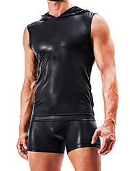 abordables -Homme Sexy Maillot de Corps Slips Couleur Pleine Taille Normale