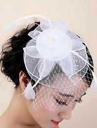 fjer hår klip hovedstykke bryllupsfest elegant feminin stil