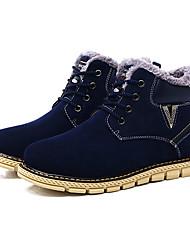 povoljno -Muškarci Cipele Tkanina Proljeće Jesen Udobne cipele Čizme Vezanje za Kauzalni Braon Plava