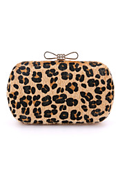 cheap -Women's Bags Other Leather Type / Suede Evening Bag Fur Leopard / Light Green / Light gray